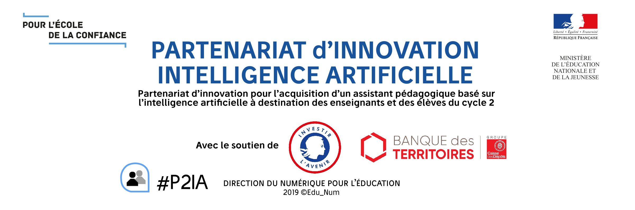 "logo P2IA Partenariat d'Innovation ""Intelligence Artificielle DANE Nancy-Metz recherche DANE Nancy-Metz recherche DANE Nancy-Metz recherche"